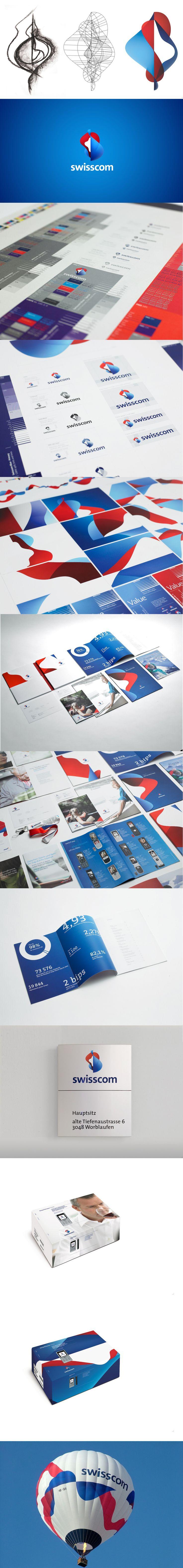 Swisscom brand identity by Moving Brands