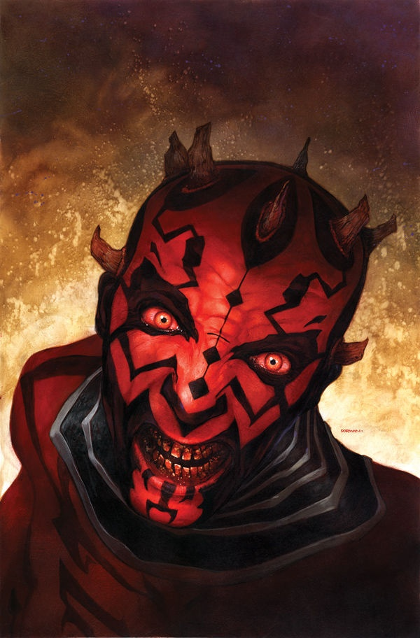 Cover art for 'Darth Maul: Death Sentence #1' by Dave Dorman