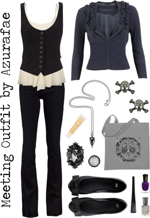 Meeting Outfit, created by azurafae on Polyvore