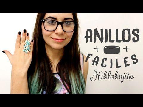 DIY Cómo hacer anillos fáciles / Accesorios de Moda - Hablobajito - YouTube