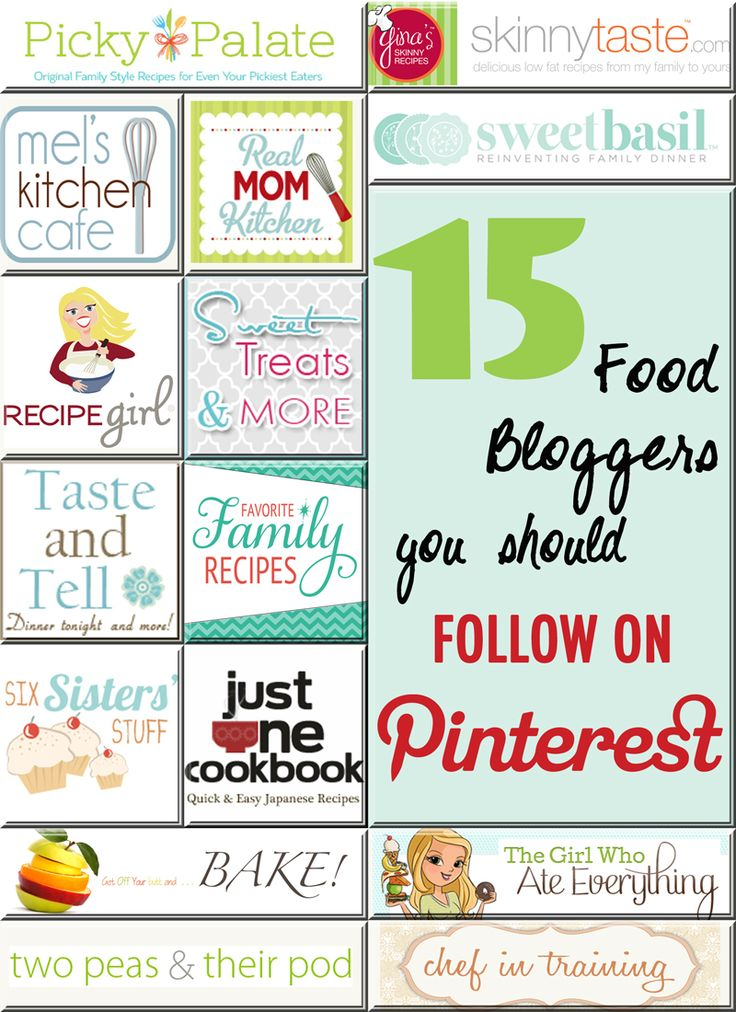 Recipe Bloggers You Should Be Following On Pinterest