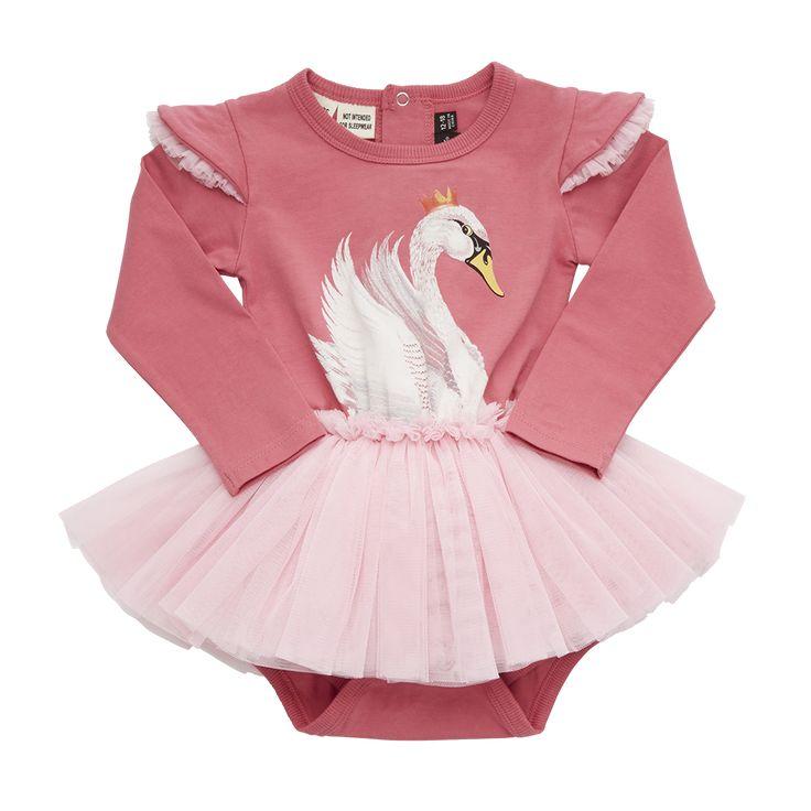 Rock Your Baby - Pink Swan Tutu Circus Dress