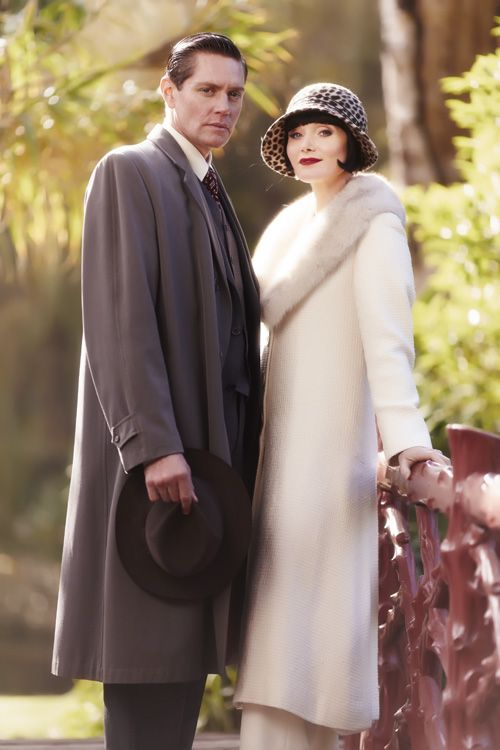 Nathan Page as Jack Robinson and Essie Davis as Phryne Fisher ~ Miss Fisher's Murder Mysteries