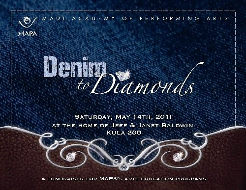denim diamond party decorations | The Maui Academy of Performing Arts (MAPA) will play host to a panilo ...
