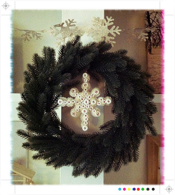 snowflake button/felt ornament! by Heather #LifeMadeLovely