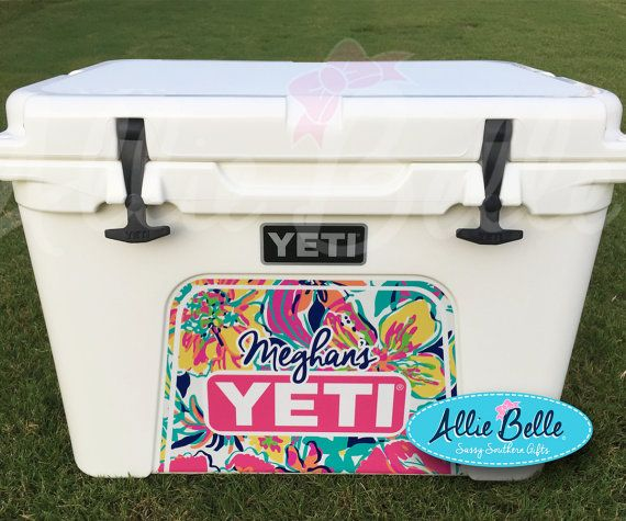 Yeti Tundra Cooler Wrap Decal.  Custom Yeti Cooler Decal.  3M Wrap Decal Personalized or Monogrammed.Tundra 35,45,50. Chevron