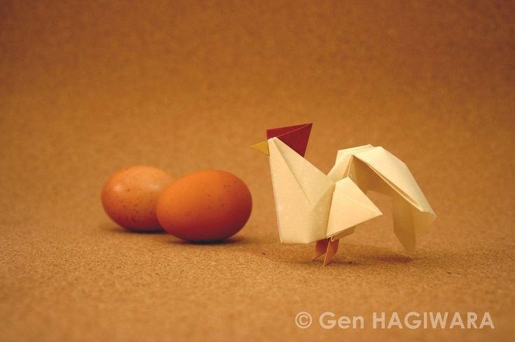 Origami Rooster (Multi colored ver) by GEN-H.deviantart.com on @deviantART