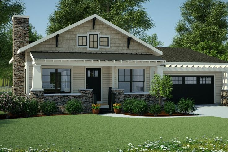 Ranch Style House Plan 3 Beds 2 5 Baths 1625 Sq Ft Plan 126 143 Craftsman House Small Bungalow Bungalow House Plans