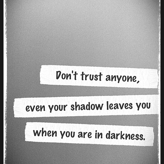 Dont Trust Anyone Even Your Shadow Leaves You When You Are In