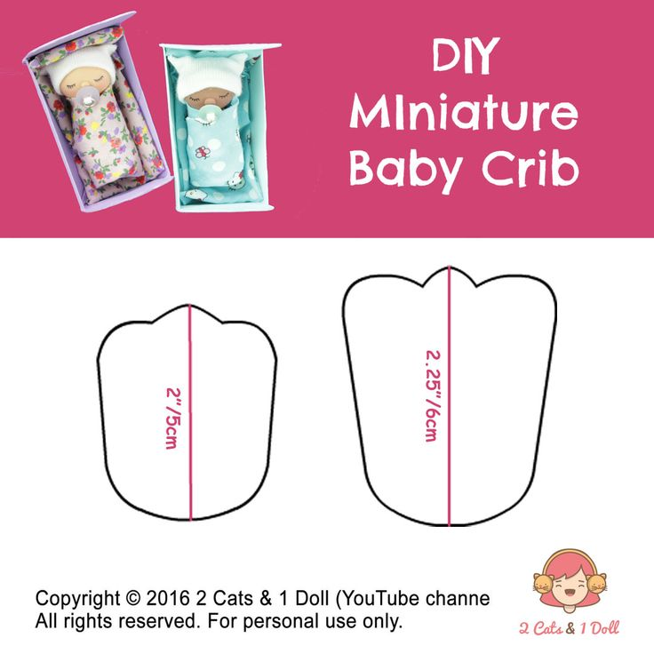 How to make miniature baby, miniature pacifier & baby doll crib.