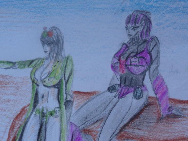 My drawing Dominiq and Ivy