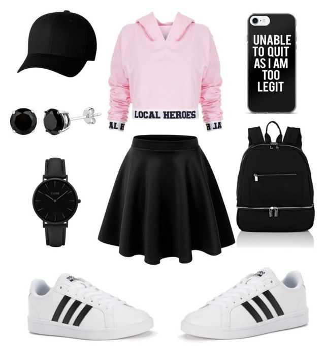"""""""I'm Too Legit"""" by baeitskai on Polyvore featuring Local Heroes, adidas, Deux Lux, Flexfit and CLUSE"""