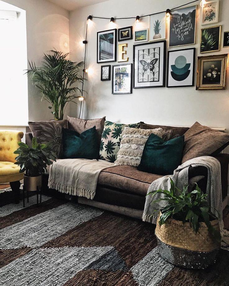 Gallery Wall Inspo | La Redoute rug | living room decor ...