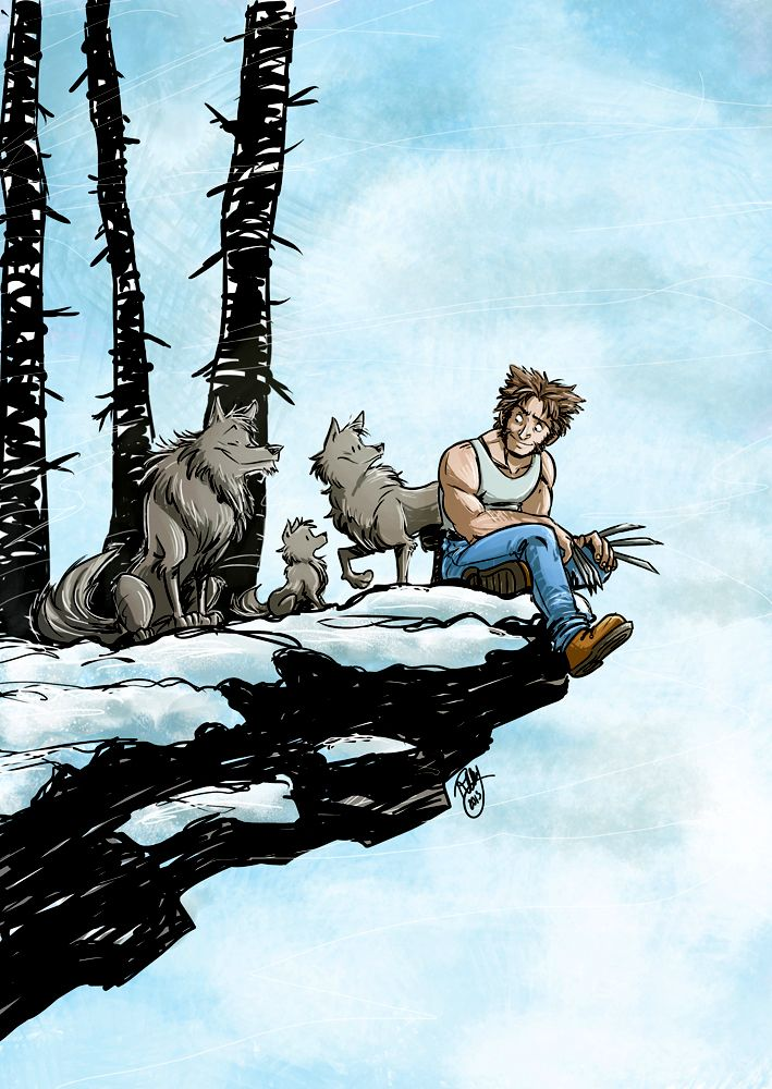 Some Wolves and A Wolverine by Renny08.deviantart.com on @deviantART