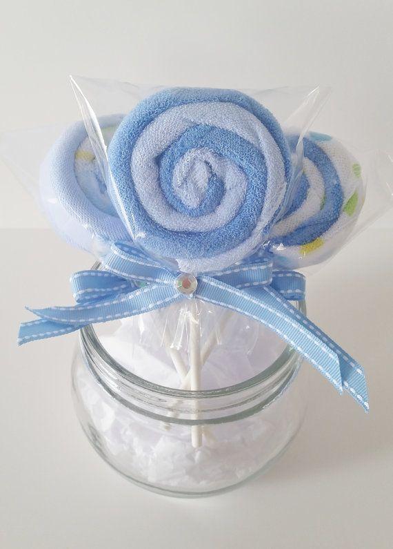 Washcloth Lollipops Baby Washcloth Gift by LilLoveBugsCreations