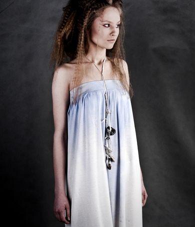 cotton dress  technique- dripping