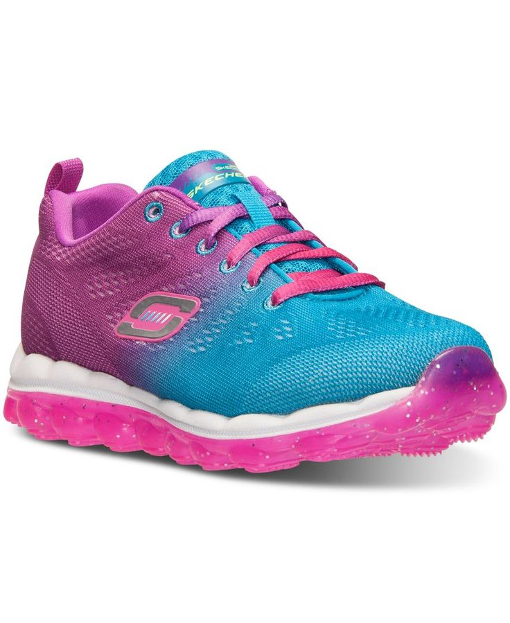Skechers Little Girls' Skech-Air Perfect Quest Running Sneakers from Finish Line