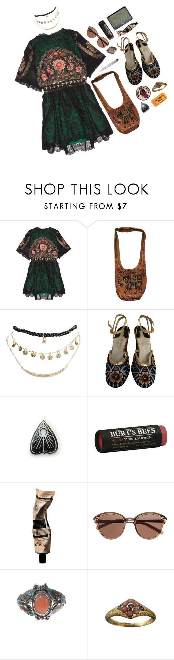 """""""Bohemian Music Festival"""" by izzy-boo-kitty ❤ liked on Polyvore featuring One Vintage, Wet Seal, Salvatore Ferragamo, Burt's Bees, NARS Cosmetics and Witchery"""