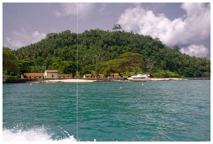 The Equator line  - Ilheu das Rolas S. Tomé e Príncipe - África