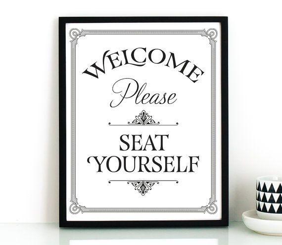Funny Bathroom Wall Art Printableplease Seat Yourself Signbathroom Artprintable Decorrestaurant Decorinstant Download