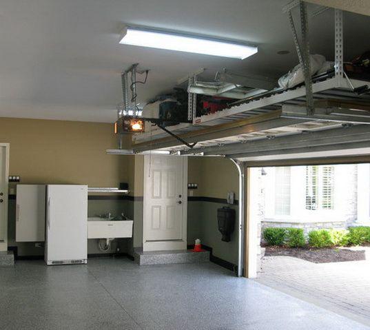 Use Area Above Garage Door For Loft! Done! 21 Garage Organization And DIY  Storage