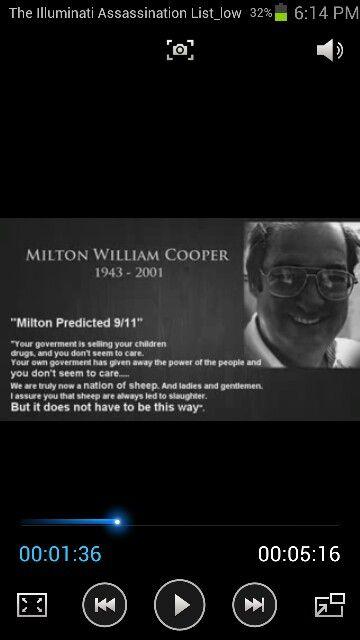 MILTON WILLIAM COOPER  PREDICTED 9/11