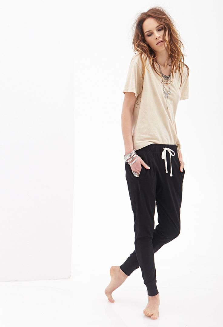 Classic Knit Drawstring Joggers | FOREVER21//  Aerie has these too. Do I dare?