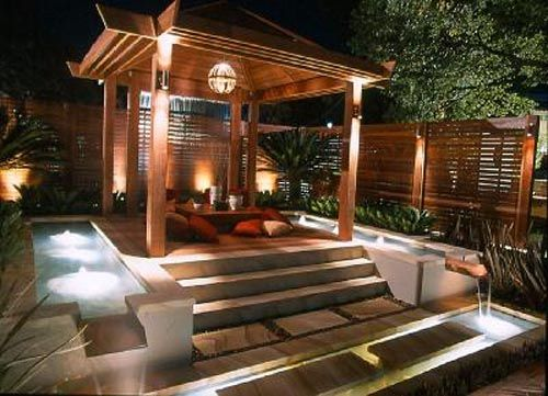 Hot Tub Backyard Ideas Pergola And Jacuzzi With Wooden Steps Small Backyard Designs  Hot Tub Ideas