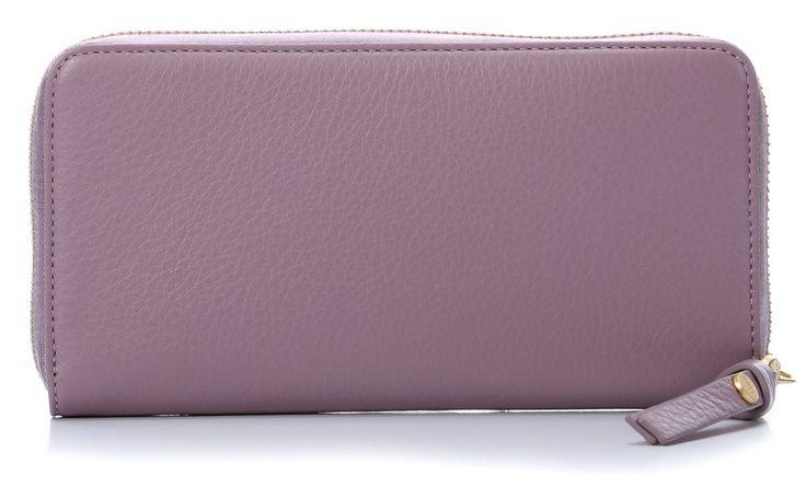 wardow.com - #GGL, Leather Nown Waletta Geldbörse Damen Leder purple 19 cm