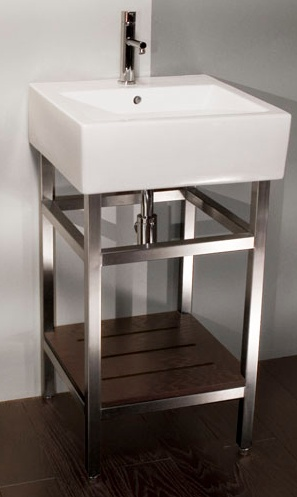 Small Powder Room Vanity Sink With  Inch Spread