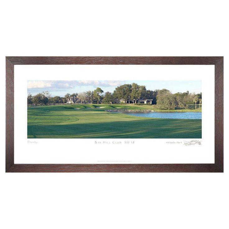Stonehouse Framed Prestige Edition Wall Art -- Famous Golf Courses - BAYHL6P