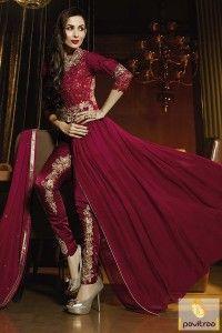 Red Color Bollywood Celebrity Malaika Arora Anarkali Suits #salwarsuit, #bollywoodsalwarsuit more: http://www.pavitraa.in/catalogs/malaika-arora-designer-salwar-kameez-dresses-online/?utm_source=rn&utm_medium=pinterestpost&utm_campaign=20jun