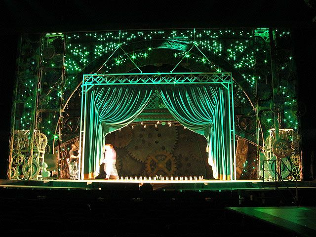 Life In Color: Its Always Hot in the Performing Arts.  Lush Emerald Green Theater Curtains From the Musical Wicked.
