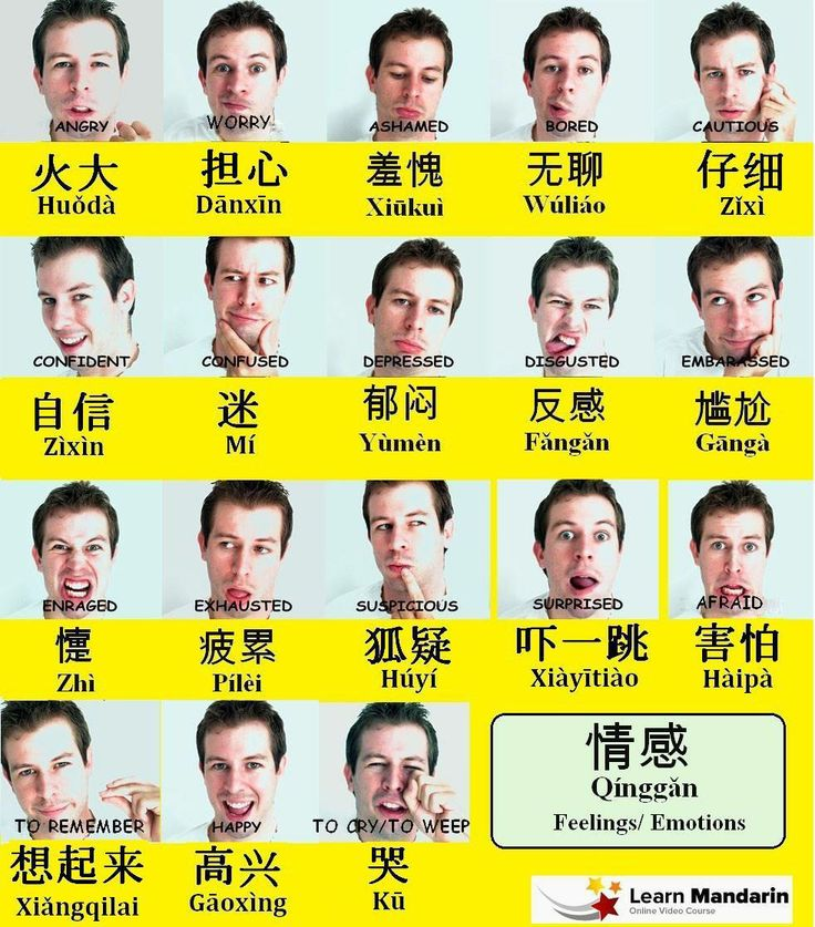 Emotions in Chinese