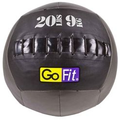 Whether you are a cross training enthusiast or looking to enhance your strength, the GoFit Wall Ball increases the intensity of explosive, full-body, plyometric exercises that rapidly improves muscle power and overall conditioning. (Available in 12lb, 16lb, 20lb, 25lb)