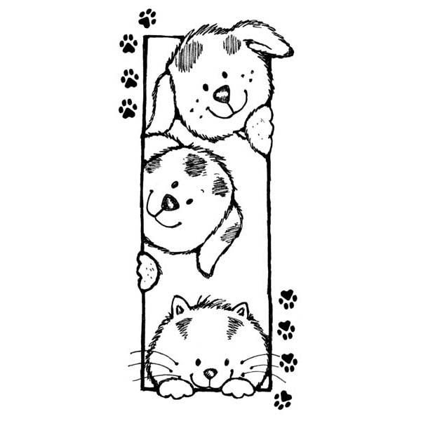 Friends Forever Rubber Stamp