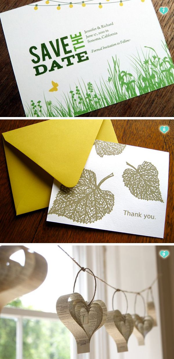 Love the recycled paper book garland