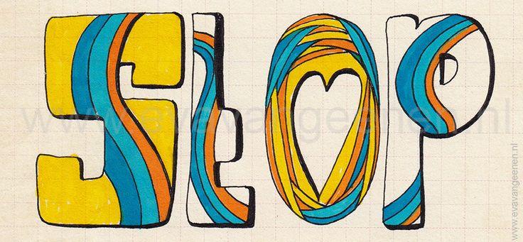 don't - #stop #colors #colorful #retro #style #vintage #letterart