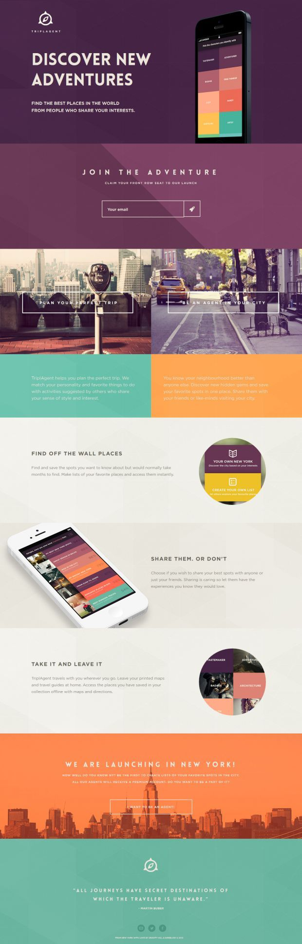#UI #Web #Design / TriplAgent - Your World Is Out There - #Webdesign inspiration www.niceoneilike.com