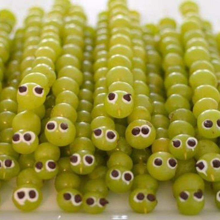 Grape Caterpillar Skewers