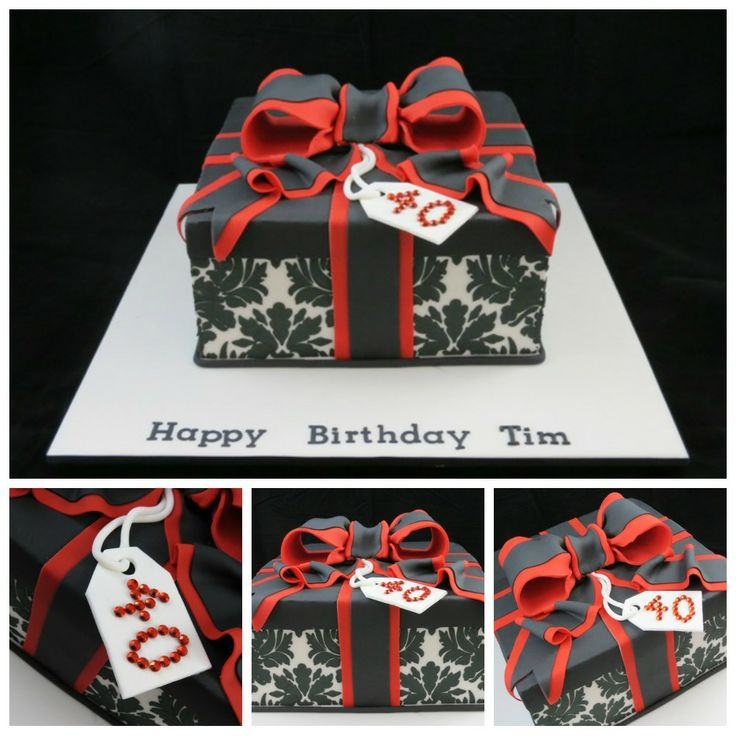 Black And White Cake Boxes