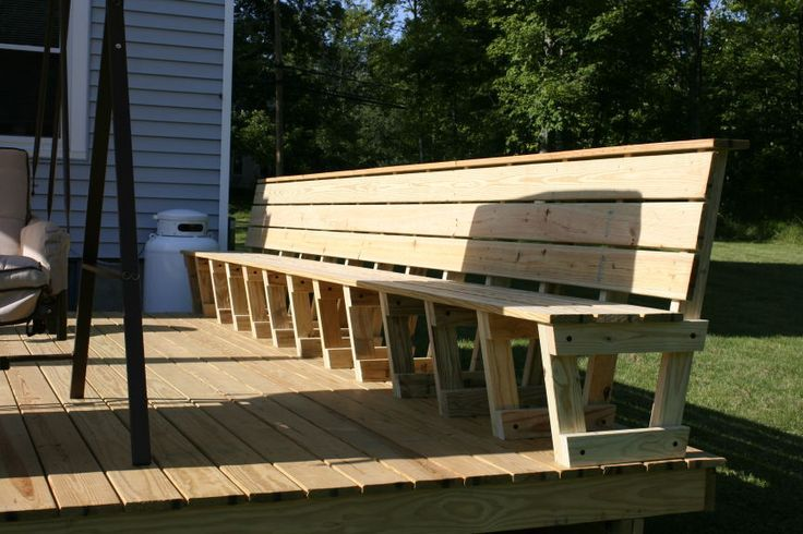 comfortable built in deck benches - Google Search