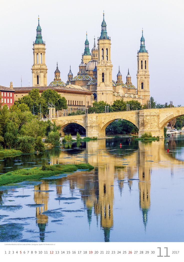 Cathedral Basilica of Our Lady of Pillar, Zaragoza, Spain / Kalendář Evropa 2017