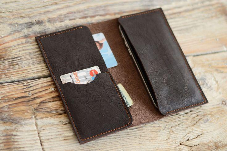 Leder Brieftasche iPhone 6 RS iPhone Ledertasche Herren Brieftasche Karte Halter Samsung Handy Gehäuse von ZAHRT auf Etsy https://www.etsy.com/de/listing/235070352/leder-brieftasche-iphone-6-rs-iphone