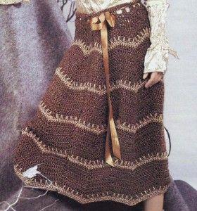 Saia longa com crochê ziguezague: Crochet Projects, Crochet Long, Long Jackets, Long Skirts Patterns, Crochet Skirts, Crochet Patterns, Zigzag Patterns, Crochet Shaws Skirts, Crochet Clothing