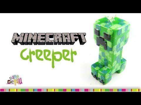 CREEPER Minecraft Polymer Clay tutorial / Creeper de arcilla polimérica - YouTube