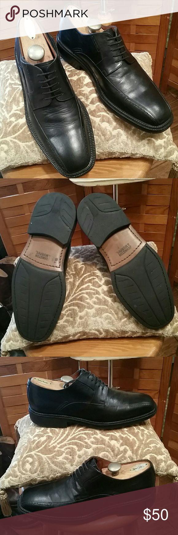 MEN'S JOHNSTON & MURPHY BLACK  OXFORD SZ 9.5 EUC Very nice men's leather Johnston & Murphy oxford lightly worn practically new condition!;sz 9.5 Johnston & Murphy Shoes Oxfords & Derbys