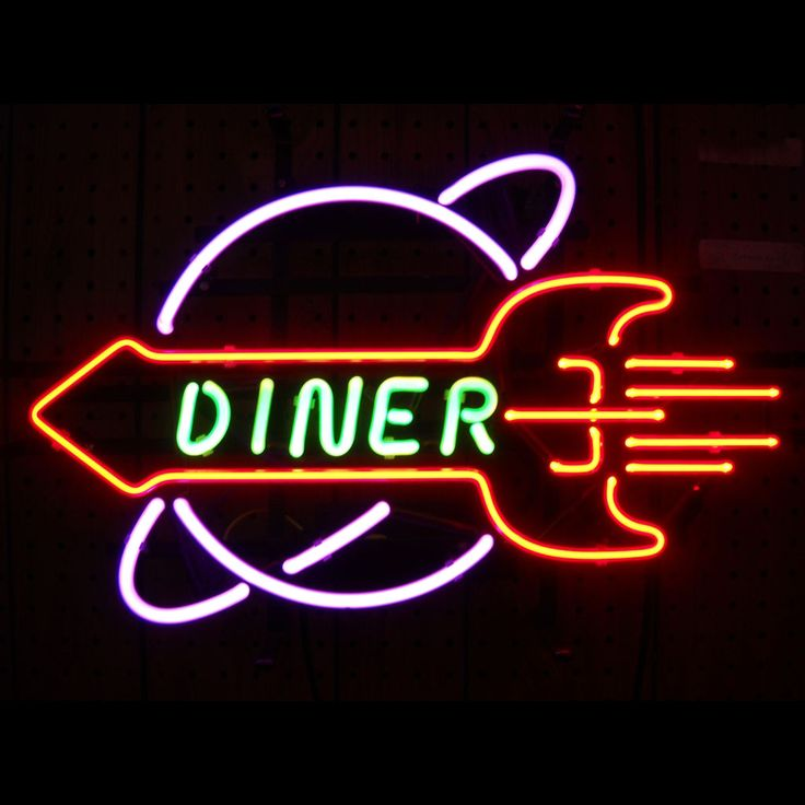 With that fifties diner feel, the Rocket Diner Neon Sign has a retro style that is a great addition to your kitchen or restaurant. Description from stacksandstacks.com. I searched for this on bing.com/images