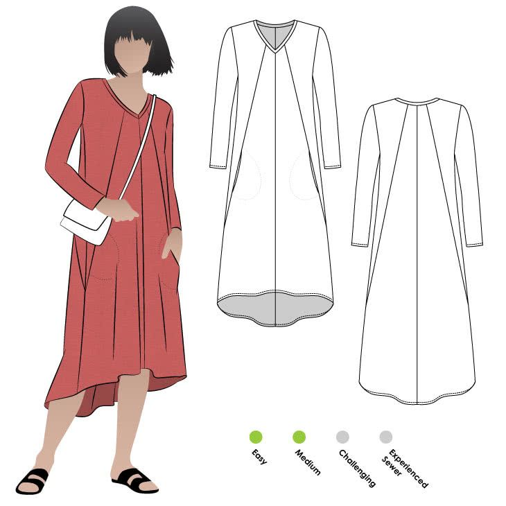 Eden Knit Dress Sewing Pattern By Style Arc | Nähen, Mode | Pinterest