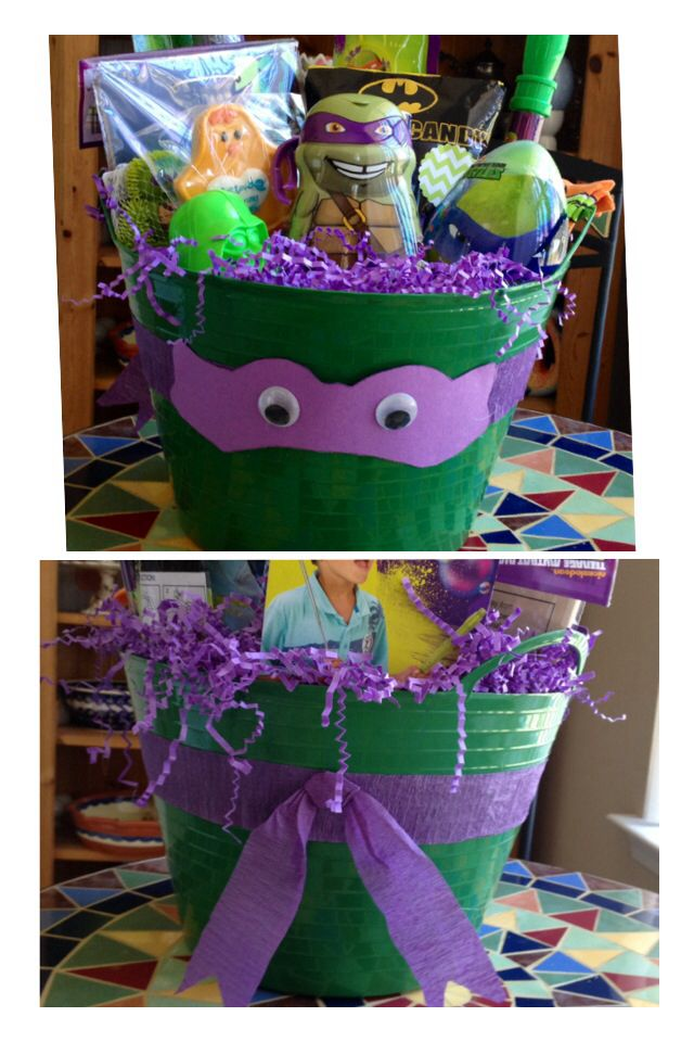 171 best ester images on pinterest easter baskets basket ideas teenage mutant ninja turtle easter basket negle Gallery